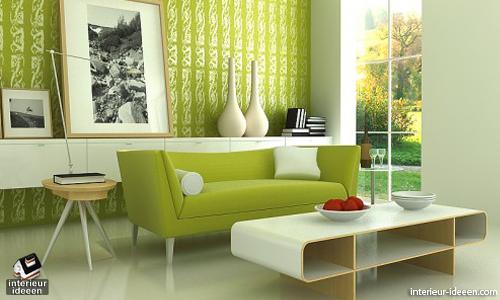 Groene woonkamer - waar staat het voor en bekijke voorbeelden