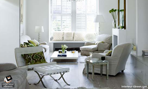 Woonkamer Witte Muren : Witte woonkamer interieur ideeen