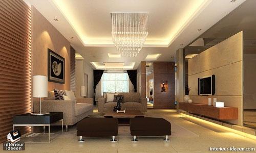 Bruine woonkamer interieur ideeen for Huis interieur ideeen