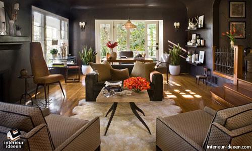 bruine woonkamer voorbeeld 4 pictures