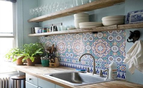 De Marokkaanse keukenwandtegel wint snel aan populariteit
