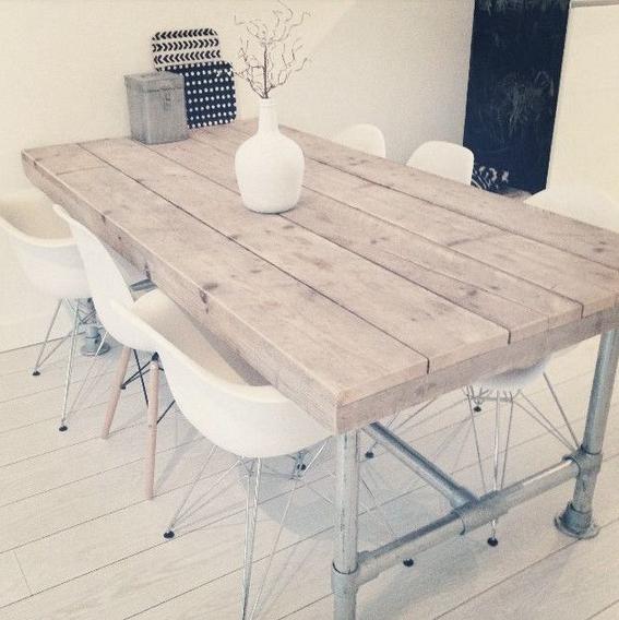 Steigerhout ideeen for Table interieur