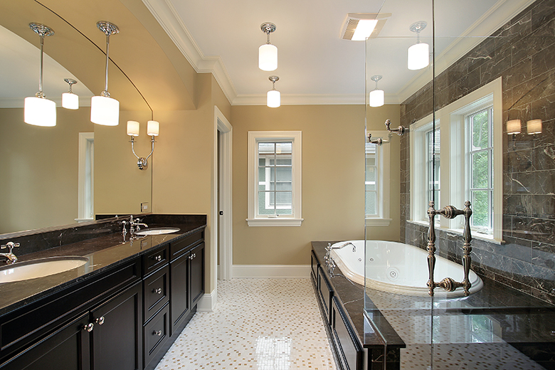 Lastest Pleasant Bathroom With Chrome Light Fixtures Bathroom Above Nice
