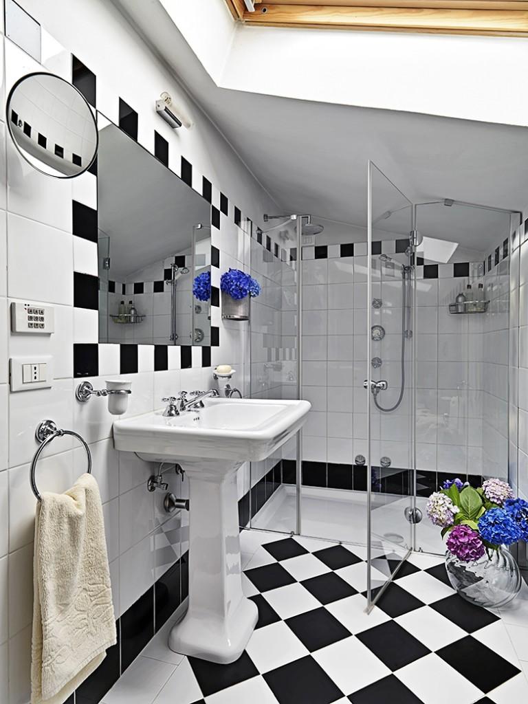 Badkamer voorbeelden zwart wit   22 badkamer foto's
