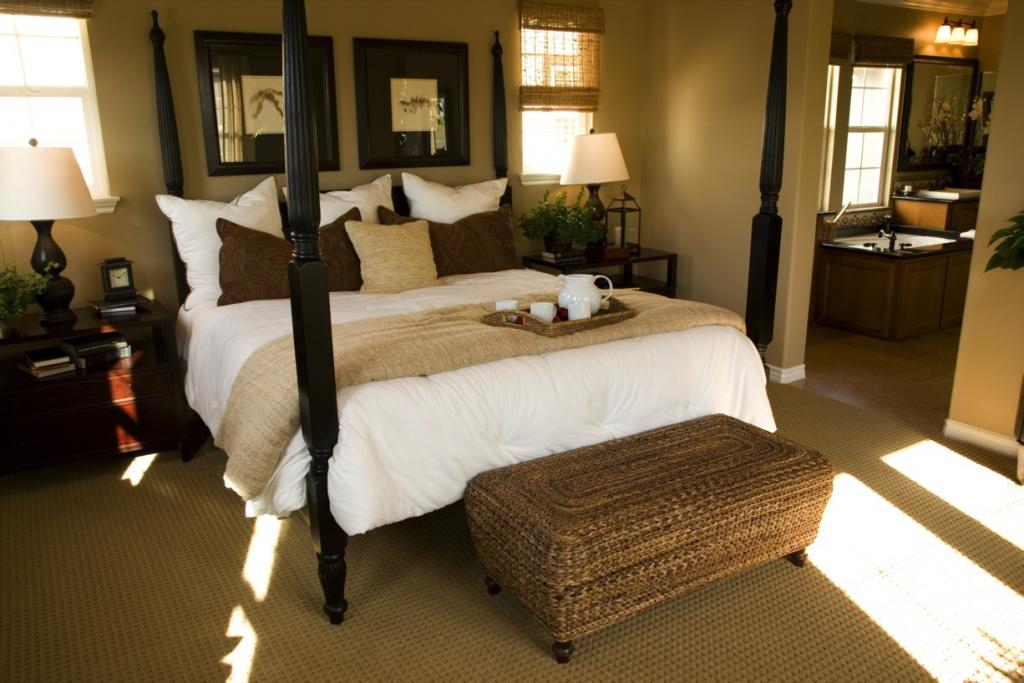 Een mooi voorbeeld van een chique slaapkamer - Romantische slaapkamer ...