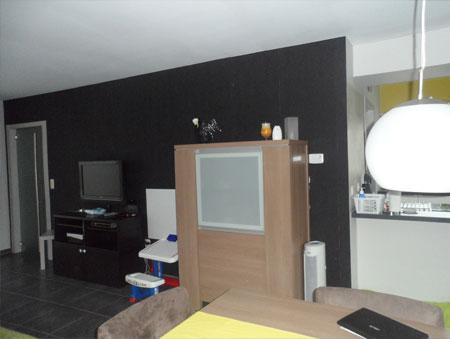 Advies voor de woonkamer met grijze muur van Inge