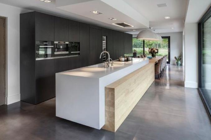 Moderne keuken vereist bouwkundige aanpassingen interieur ideeen - Moderne keuken en woonkamer ...