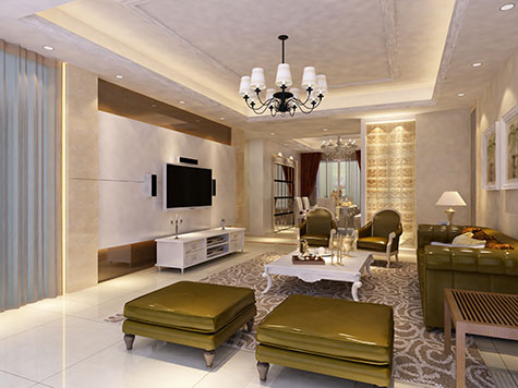 Een bruine woonkamer kan strak zijn, maar ook modern en chique ...