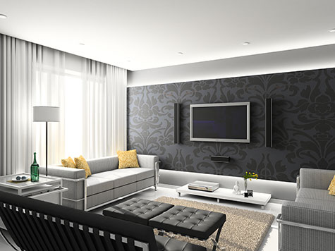 Moderne woonkamer voorbeelden inrichting en kleuren - Kleine moderne woonkamer ...