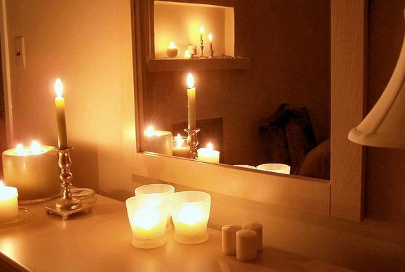 slaapkamer ideeen kaarsen