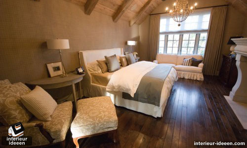 Bruine slaapkamer for Kamer interieur inspiratie
