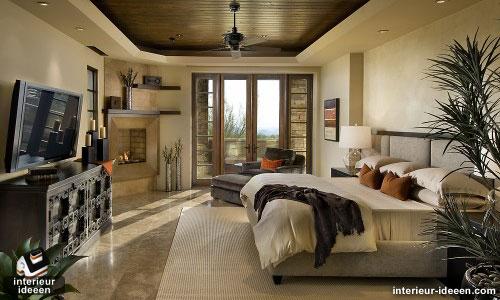 Bruine slaapkamer for Interieur slaapkamer voorbeelden