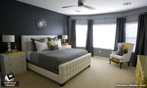 grijze slaapkamer, Deco ideeën