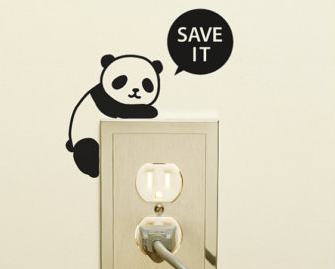 stopcontact met panda