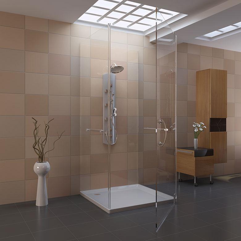 Badkamer voorbeelden inloopdouche for Badkamer artikelen