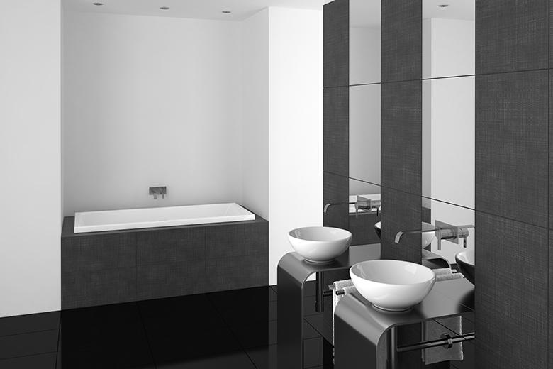 Badkamer Ideeen Zwart Wit : Badkamer voorbeelden zwart wit - 22 ...