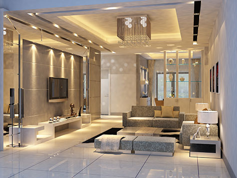 Bouwen van een huis: Inrichting woonkamer modern