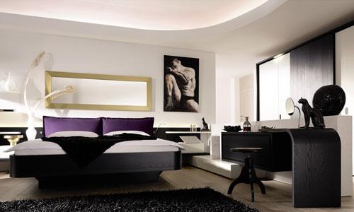 Slaapkamer inrichten - Zwart en strak