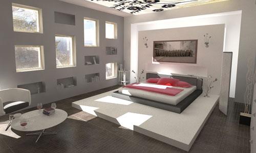 Slaapkamer voorbeelden en inrichten - ruimtelijk en licht