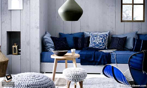 Blauwe woonkamer interieur ideeen for Interieur ideeen woonkamer