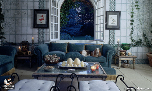 blauwe woonkamer 3