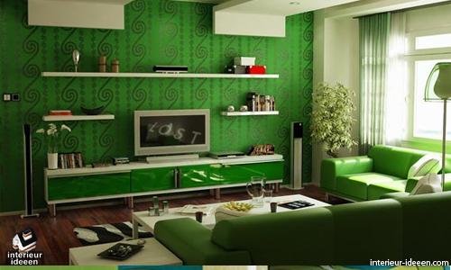 woonkamer kleuren groene woonkamer