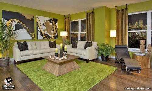 Slaapkamer Groen Bruin : Groene woonkamer waar staat het voor en bekijke voorbeelden