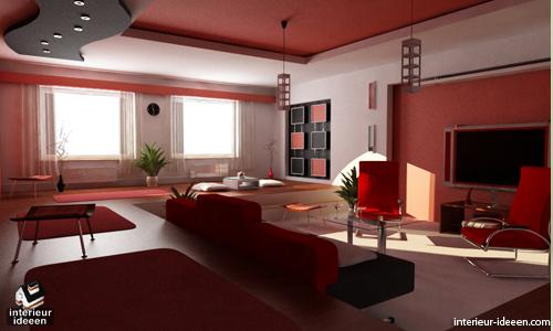 Populaire Kleuren Woonkamer : Rode woonkamer voorbeelden
