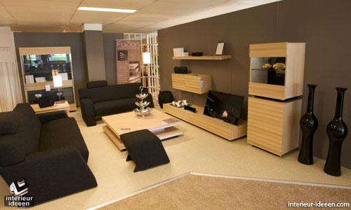 Bruine woonkamer - Interieur ideeen