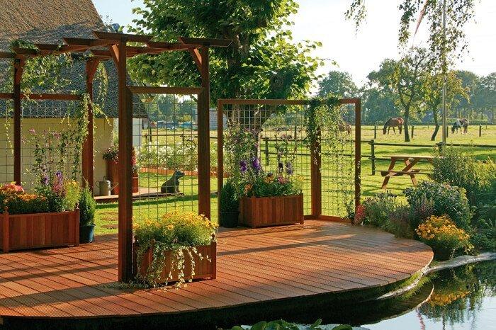 houten terras hardhout