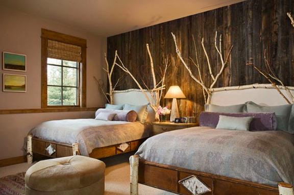 slaapkamer idee natuur