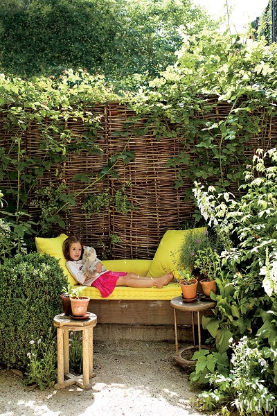 tuinen voorbeelden hoekje