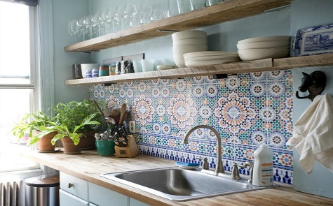 Marokkaanse Tegels Keuken : Marokkaanse tegels keuken unique tegeltjes keuken achterwand