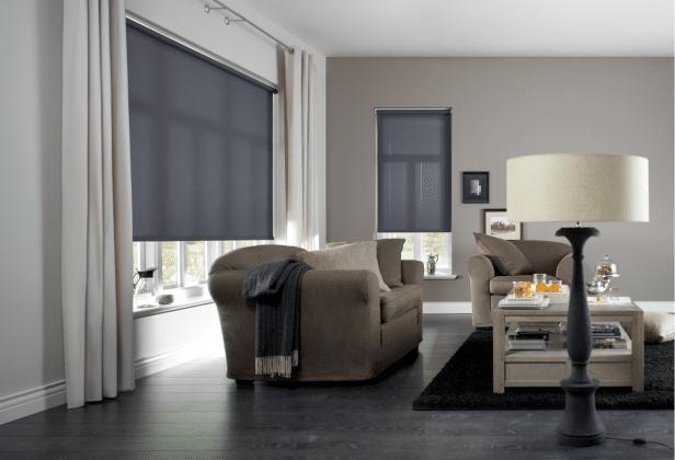 Rolgordijnen woonkamer semi-transparant