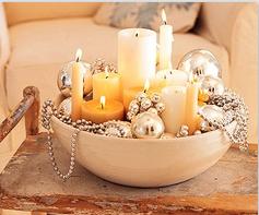 kerst interieur mand kaarsen ketting