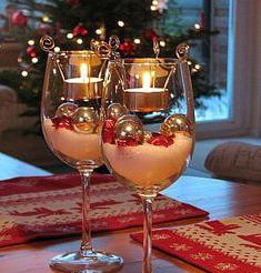 kerst interieur glazen