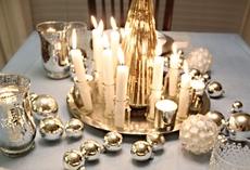 kerst interieur kaarsen