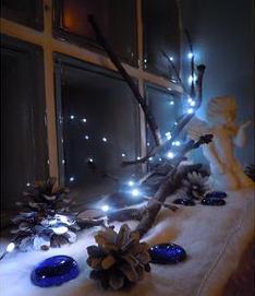 Kerst interieur kozijn