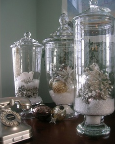 Glazen vaas opmaken kerst