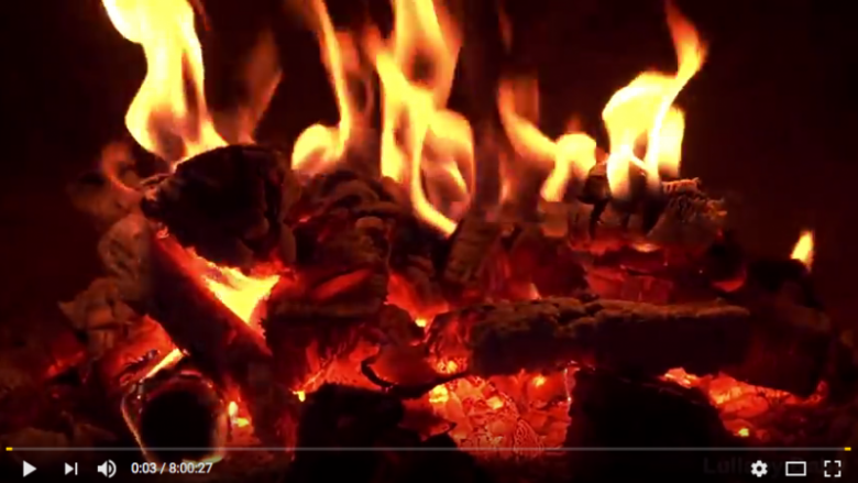 youtube fireplace kerst