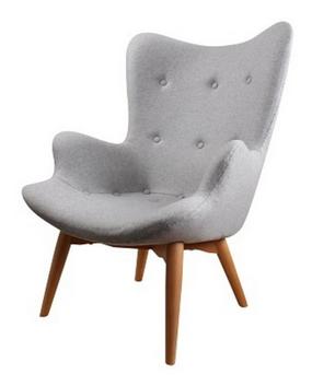 Zenie fauteuil lichtgrijs vilt