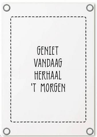 tuinposter typografie