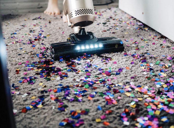 schoonmaken confetti