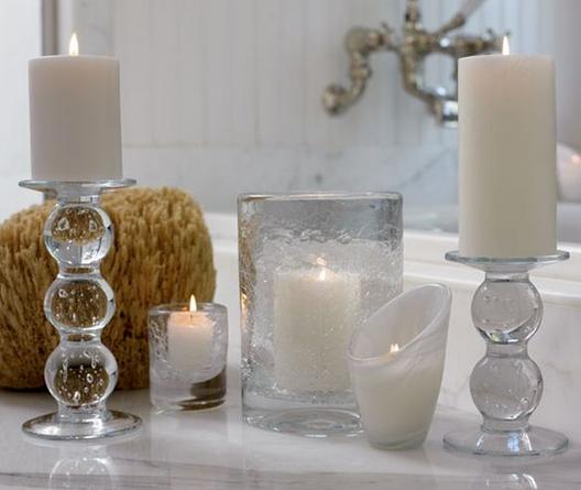 badkamer inrichten kaarsen