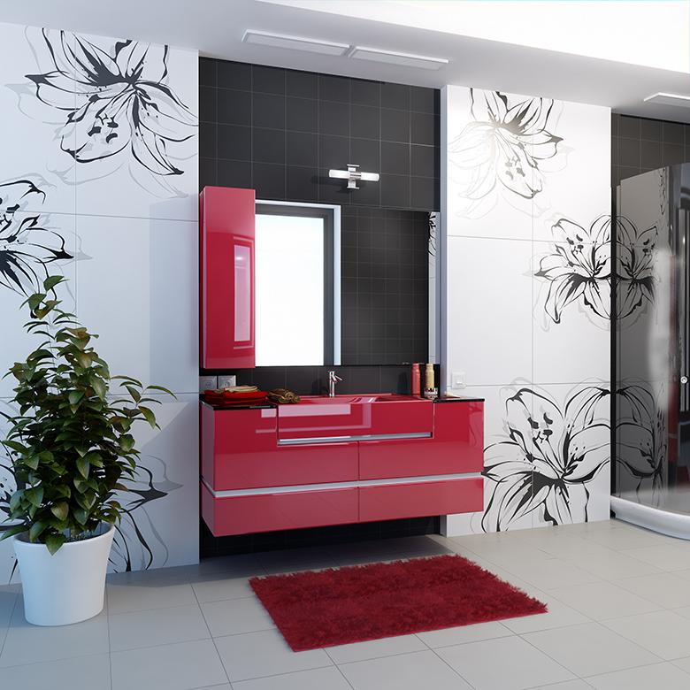 badkamer-zwart-wit-rood