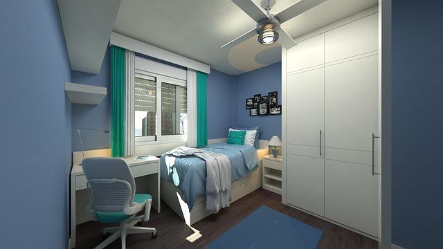 kleine slaapkamer inrichting
