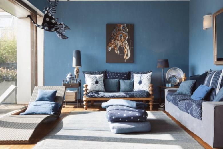 Populaire Kleuren Woonkamer : Blauwe woonkamer voorbeelden en kleurbinaties interieur ideeen