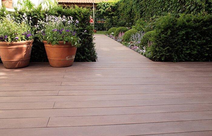houten terras composiet vlonderhout