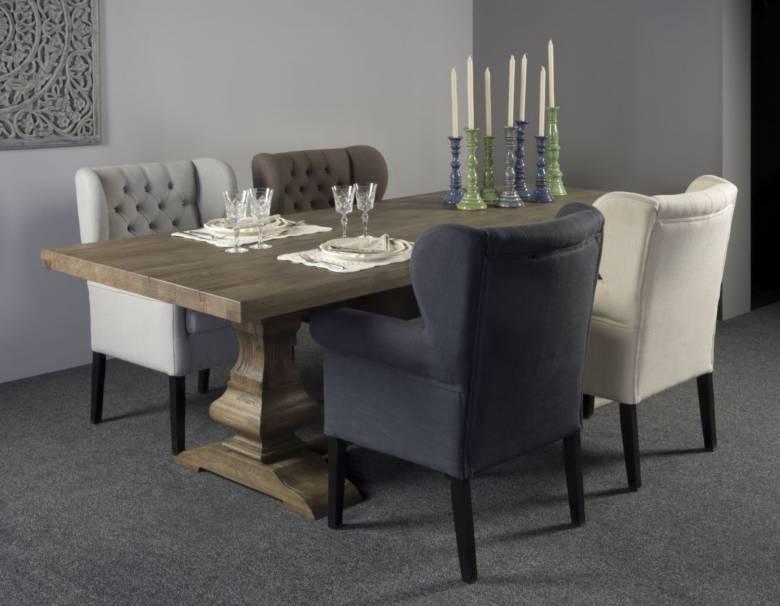 eettafel verschillende stoelen