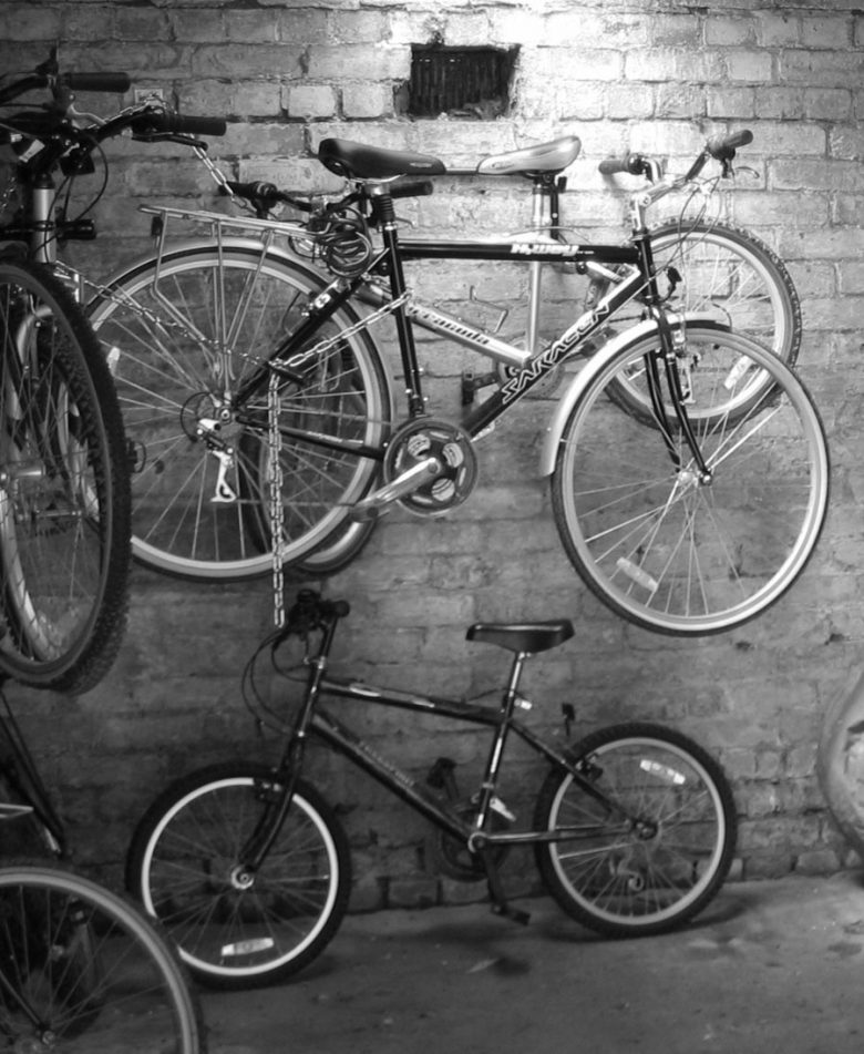 fietsen in garage